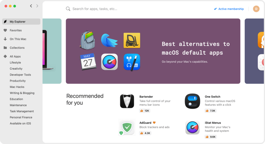 Setapp is an Independent App Store for macOS and iOS
