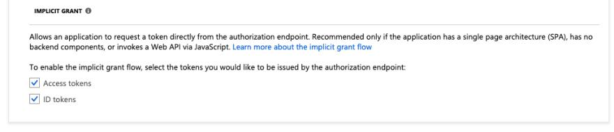 Implicit grant