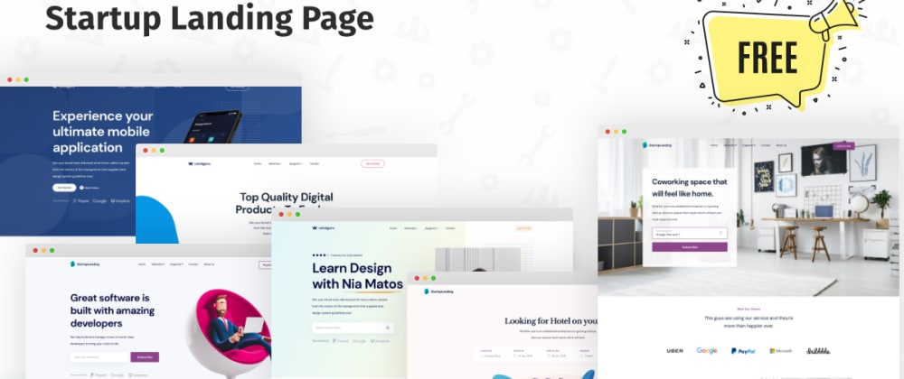 Cover image for Free React Landing Page Templates for SaaS Developers