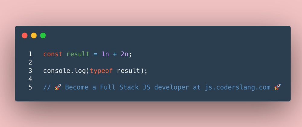 Cover image for JavaScript Interview Question #44: Number vs BigInt in JS