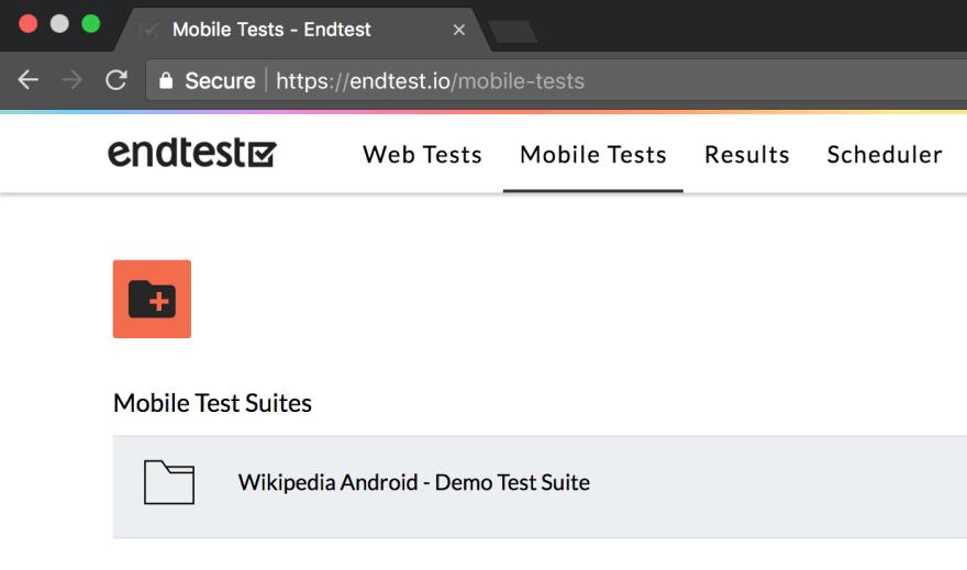 endtest mobile tests