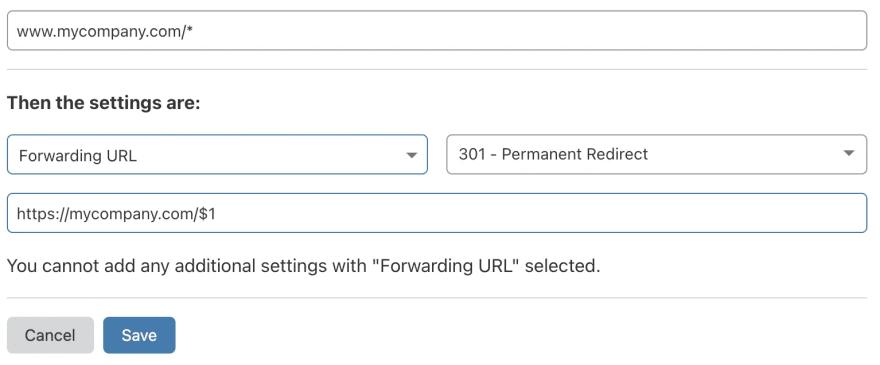 Redirect www to non-www