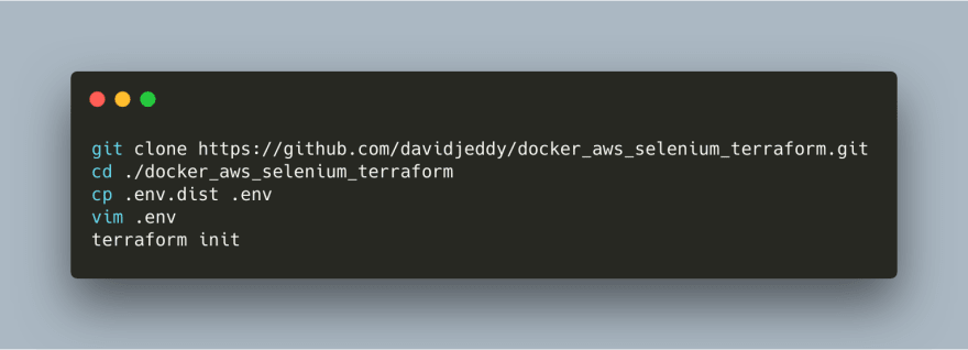 Project Release: Docker + AWS + Selenium + Terraform. Get it up and running.