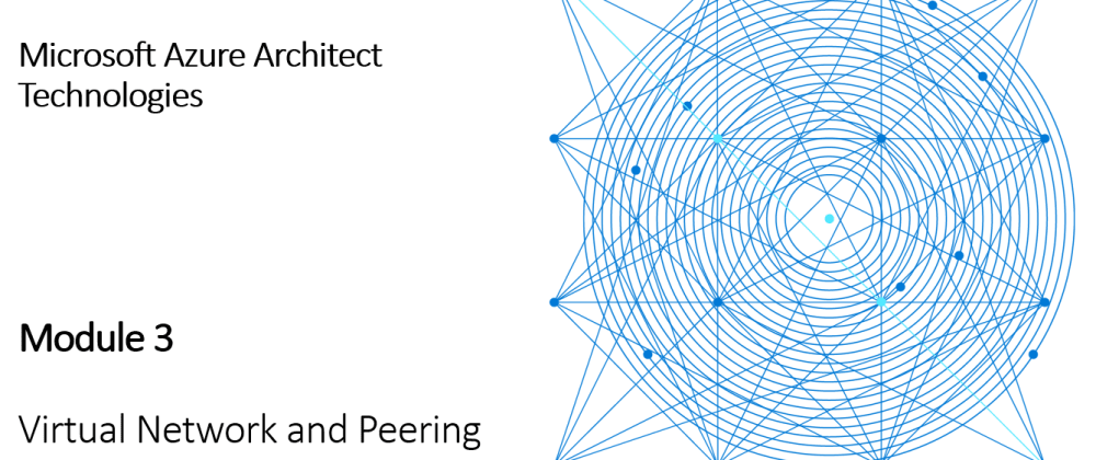 Cover image for AZ-303 Virtual Networking and Peering [Module 3]