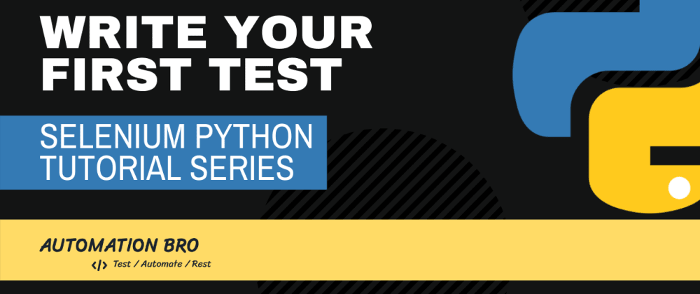 Write your first test in Selenium Python