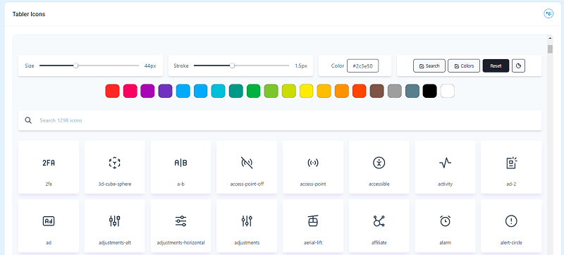 Berry React - Tabler Icons