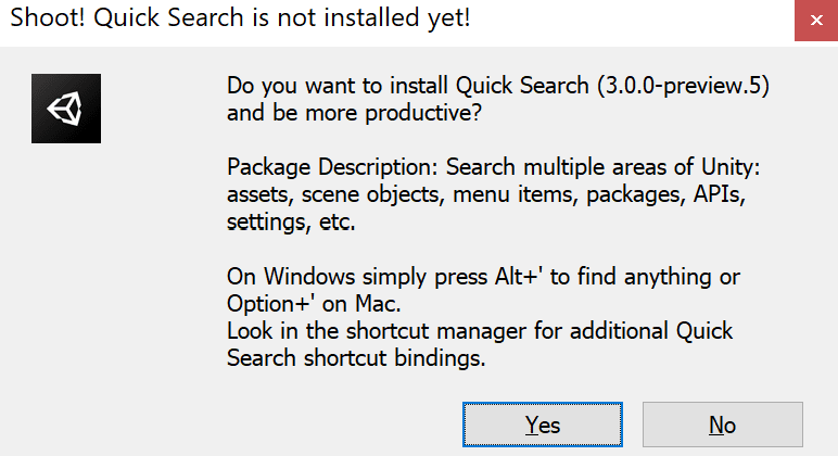 Install Quick Search...to be more productive