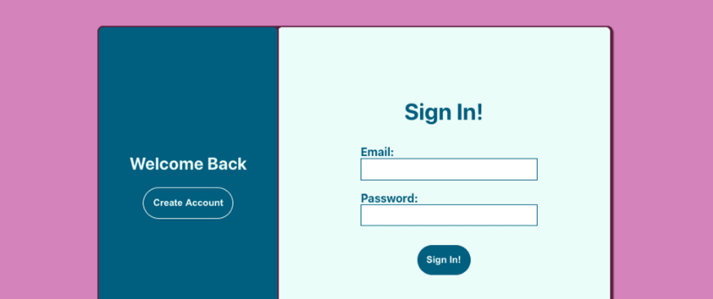 Cover image for Build This Cool Sign-In Form with React and CSS