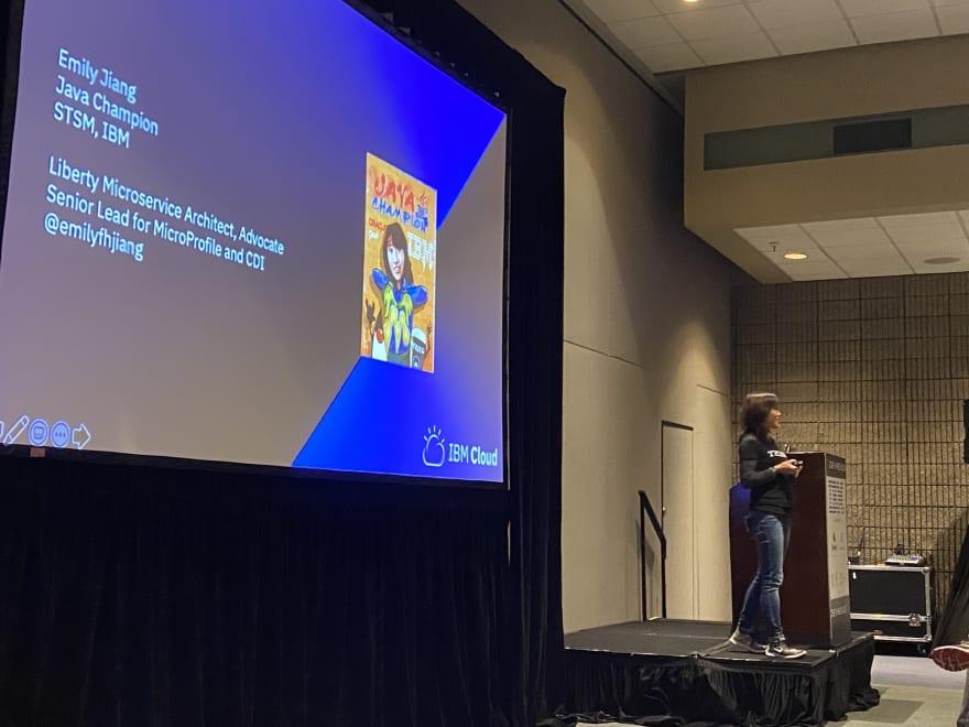 Emily Jiang speaks at DevNexus 2020