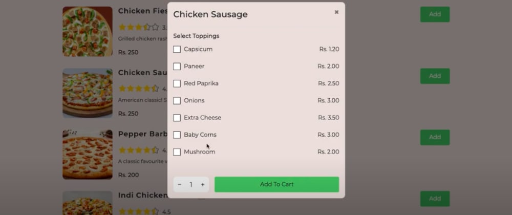 Cover Image for Build a Complete Food Ordering App using React + Redux along With Stripe Payment Integration