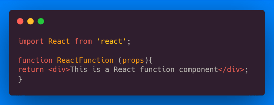 React Function Component