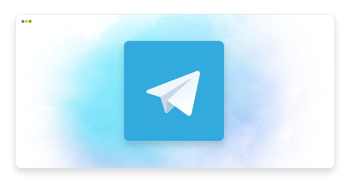 artwork depicting a stylized Telegram logo