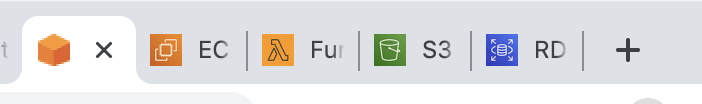 Browser tabs with iconification enabled.<br>