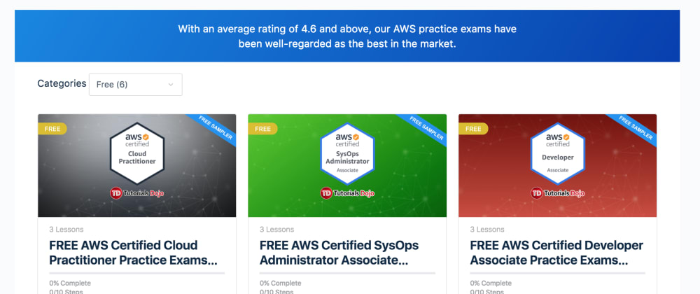 Cover image for Free AWS Practice Tests