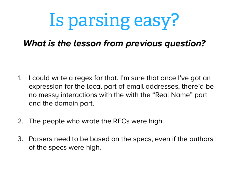 Email parsing: Lessons