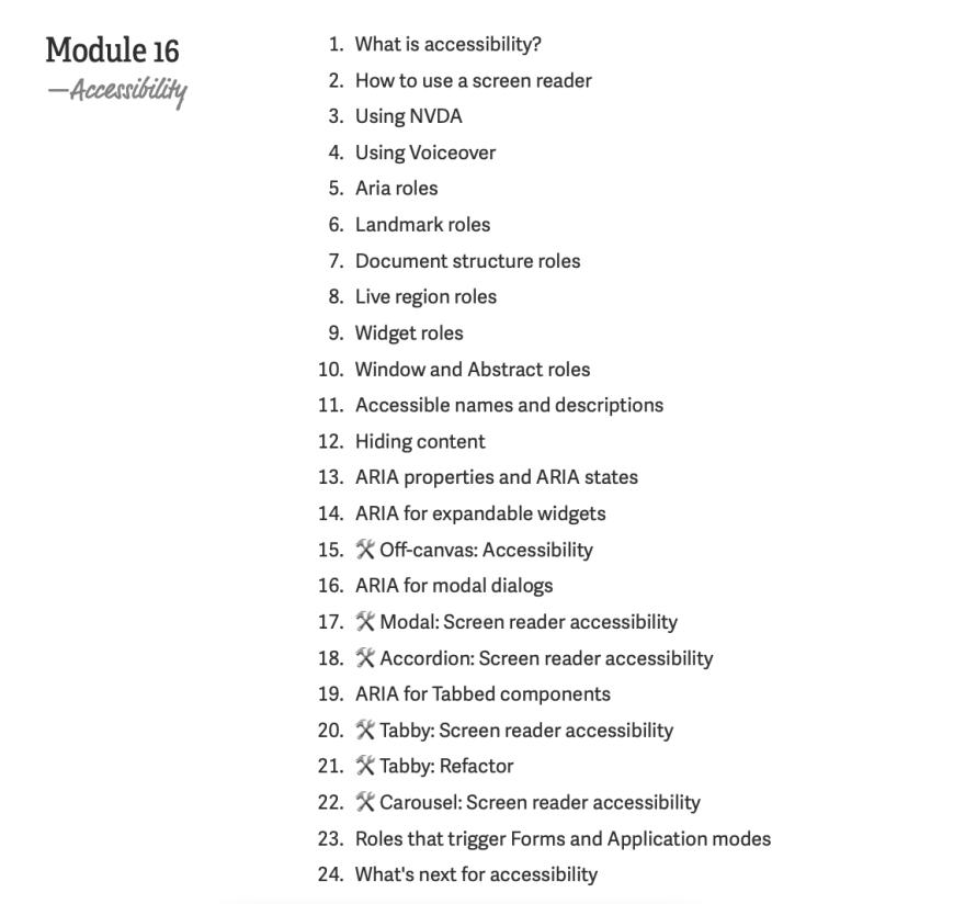 Learn javascript module 16 lesson break down