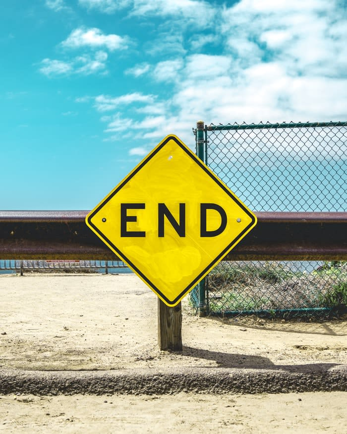 The End photo by Matt Botsford on Unsplash