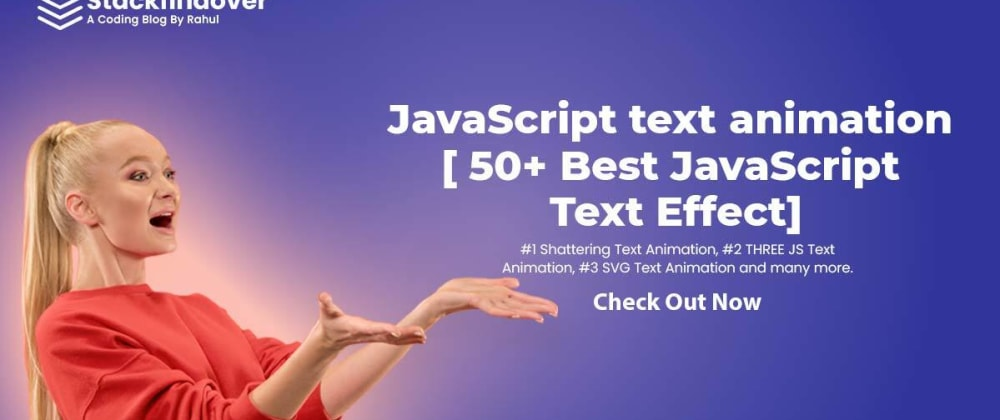 Cover image for 50+ Best JavaScript Text Effect