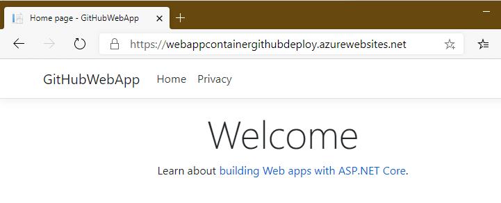 Testing web app