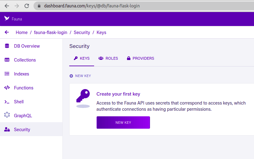 Create a secret key