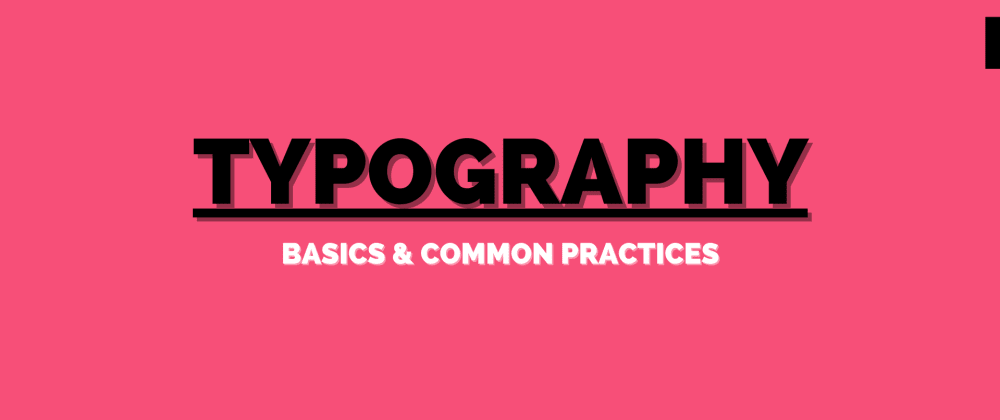 Cover image for Typography basics and best practices for software developers
