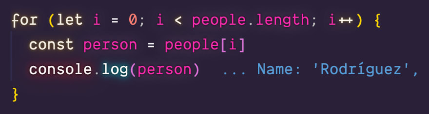 C Style for loop