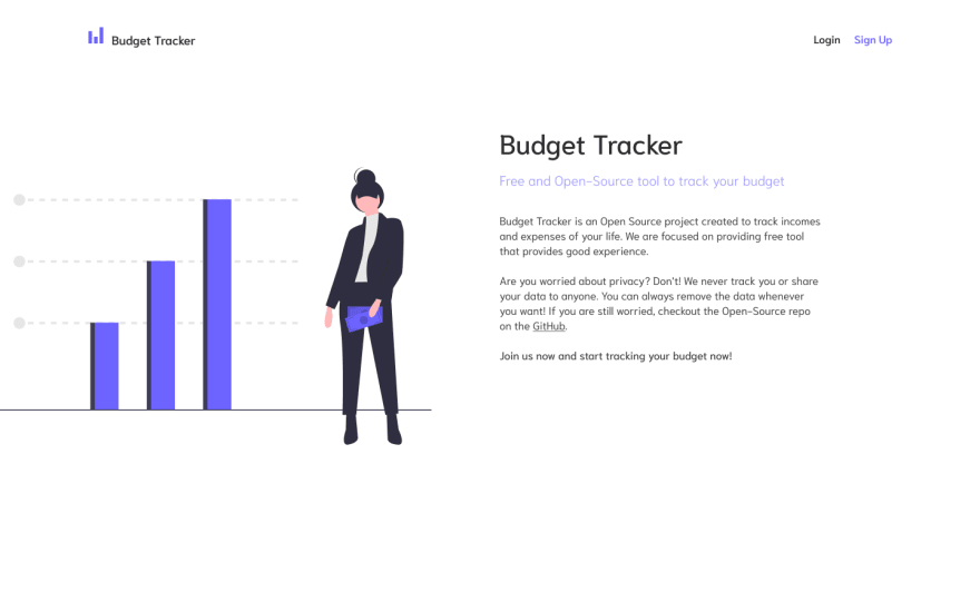 Budget Tracker — Index Page