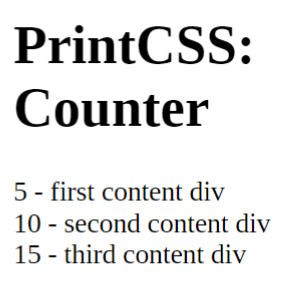Counter Increment by steps of 5.