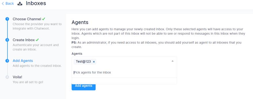 Adding Agents