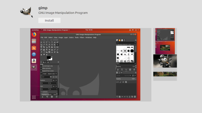 gimp install software center