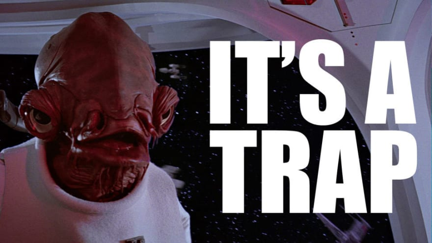"""its a trap"" meme admiral Ackbar Star Wars"