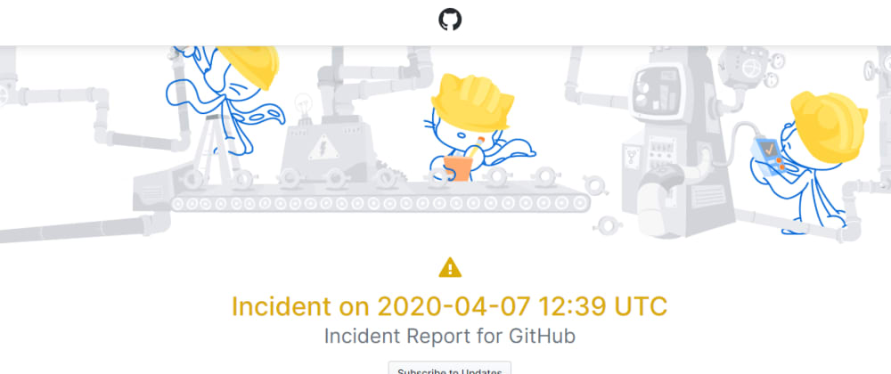 Cover image for GitHub Pages is temporarily down for maintenance