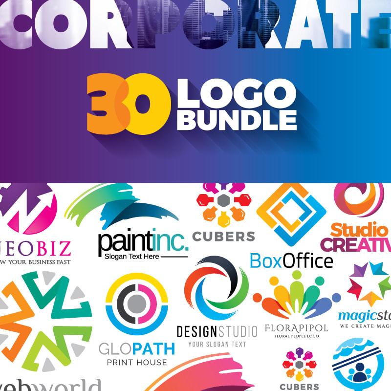 30 Gorgeous & Bright Logos