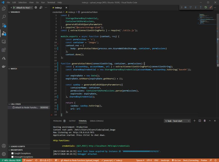 Azure Functions Running CLI