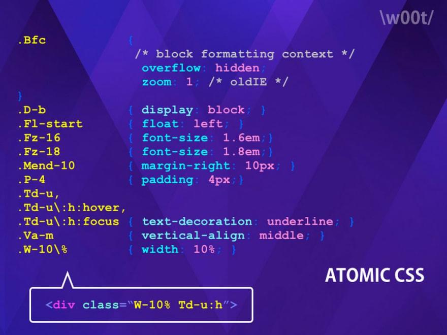 Atomic CSS example