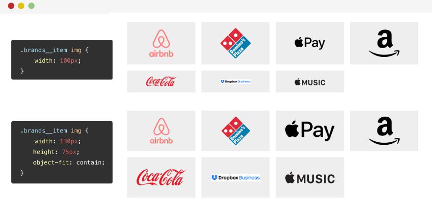 Aligning logo images