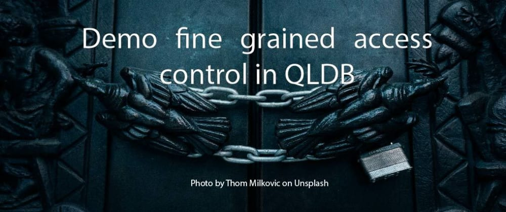 Cover image for Demo fine grained access control in QLDB