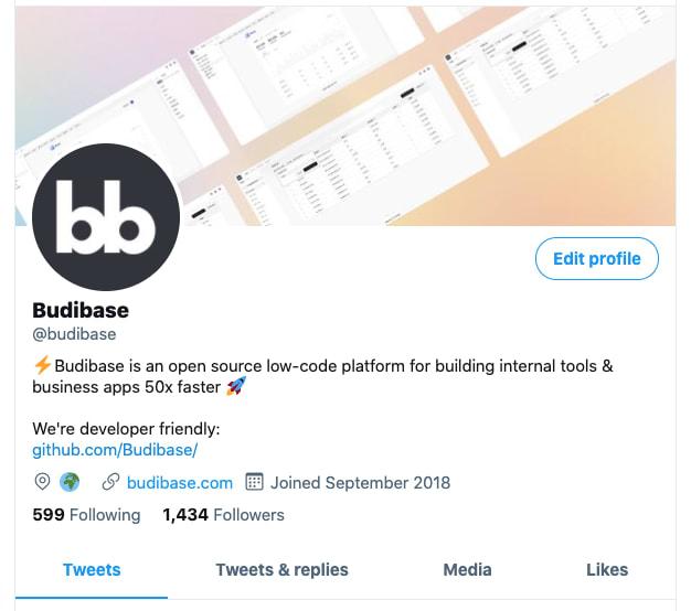 Budibase Twitter