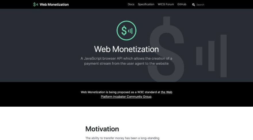 Web Monetization