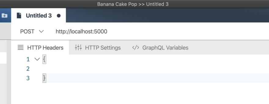 Banana Cakepop GraphQL Server URL