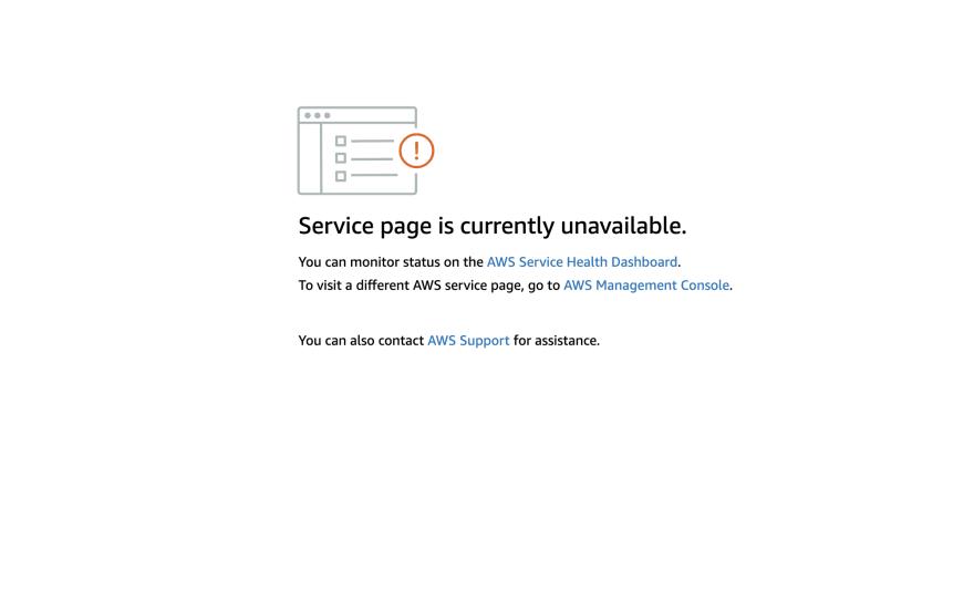 AWS Error Message