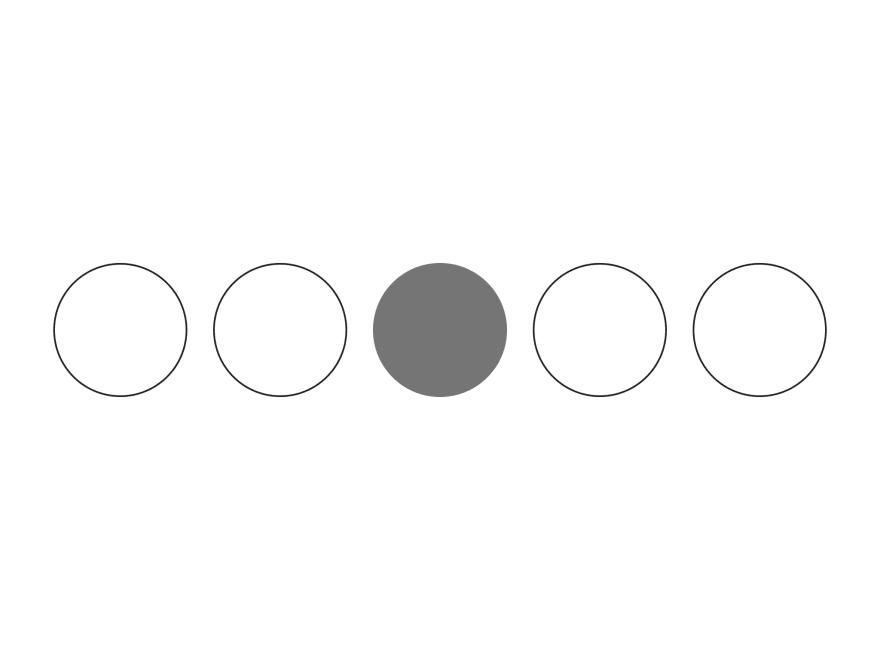 A gray circle