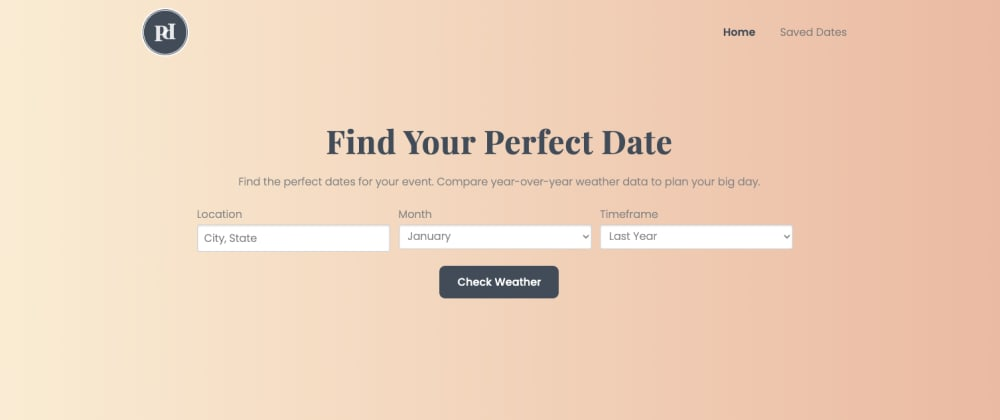 Cover image for Perfect Date: A Javascript and API Project