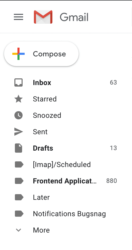 Gmail - Frontend Applications