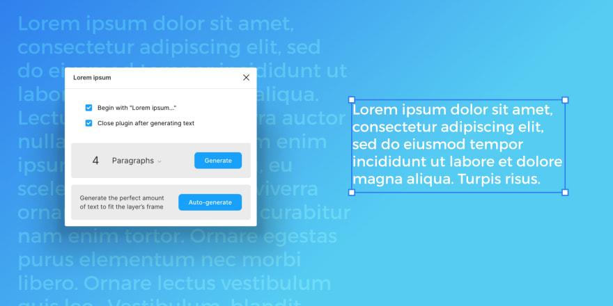 Screenshot of Lorem Ipsum