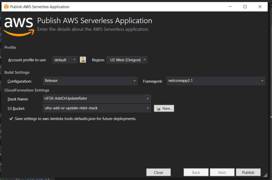 Deploy AWS Serverless Application