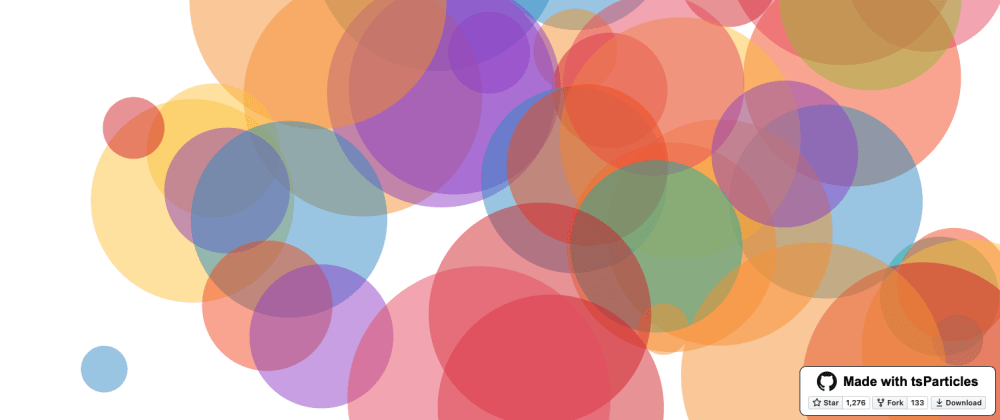 Cover image for #codevember - 12 - Bubbles animated background - Made with tsParticles