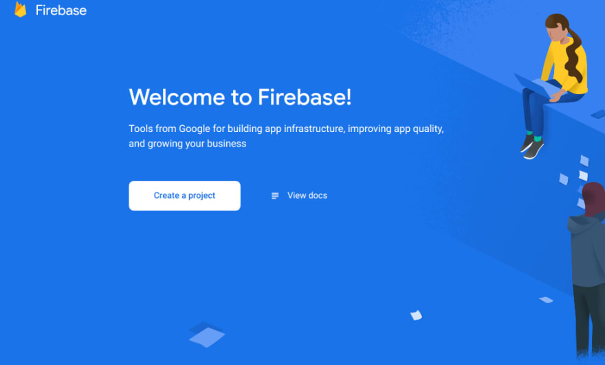 make new project in firebase