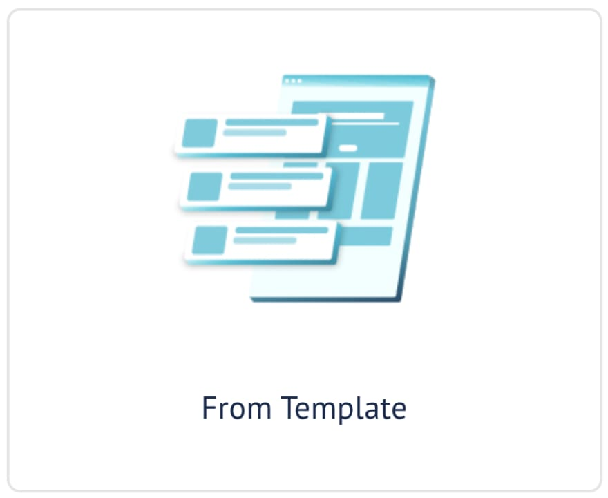 GraphCMS from template button