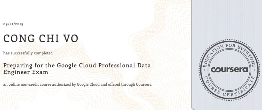 Cover image for Toward GCP Data Engineer certification